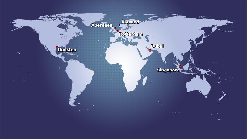 Stock points around the world.