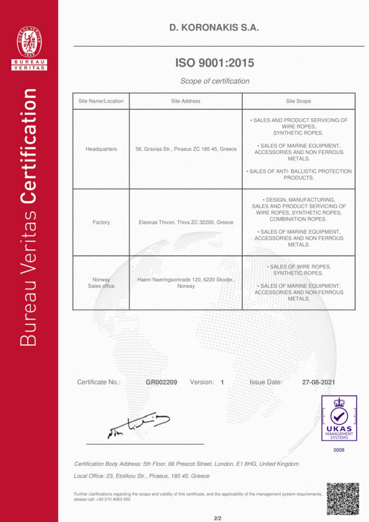 ISO 9001 2015 page 2 / 2